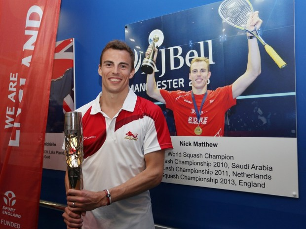 World and Commonwealth champion Nick Matthew is inducted into the English Institute of Sport Hall of Fame