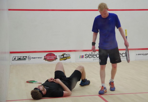 Down and out: Geekie loses to Evans