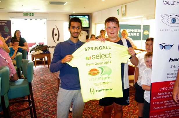 Stan is presented with his special birthday shirt from Youssef Abdalla