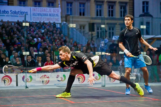 Squash action thrills the crowds  in Wroclaw