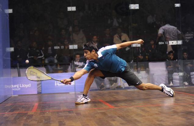 Saurav Ghosal in action