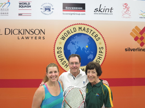 WHAT A FAMILY! Chris Grainger flanked by daughter Natalie and wife Jean