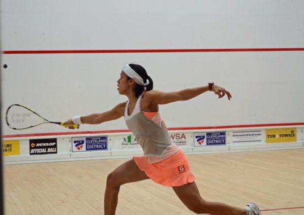 Nicol David in action