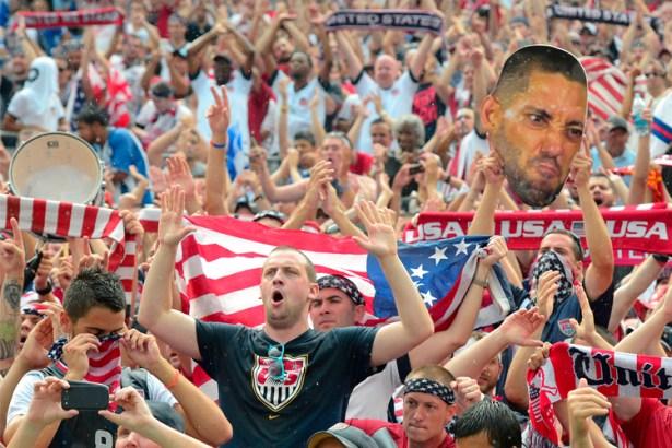 The US fans love goalkeeper Tim Howard