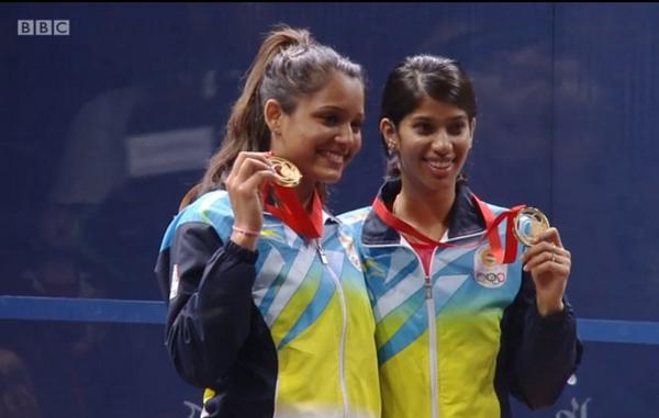 Golden girls Dipika (left) and Joshna