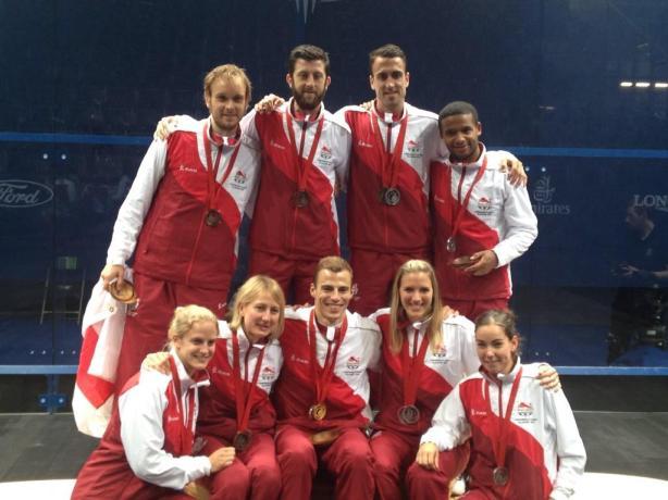 England's medal winners in Glasgow