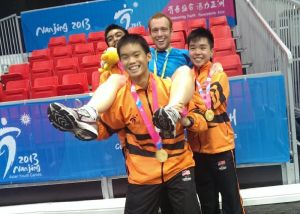 Andrew and his charges at last year's Asian Games