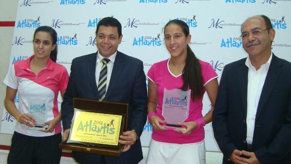 Habiba Ahmed (second right celebrates victory