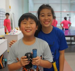 Leon Cheok with AuYeong Wai Yhann, the girls Under-19 No.1