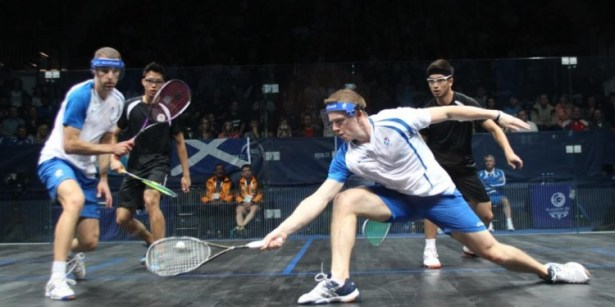 Scotland team-mates Stuart Crawford (left) and Greg Lobban