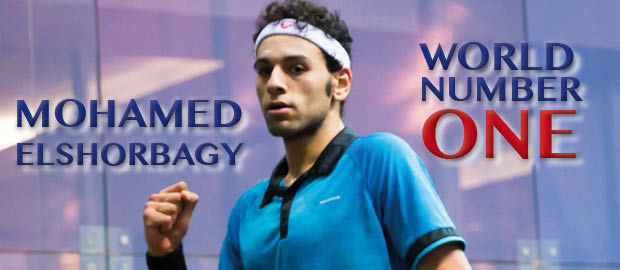 Pumped up: Mohamed Elshorbagy takes over at number one. Graphic by KRISTI MAROC