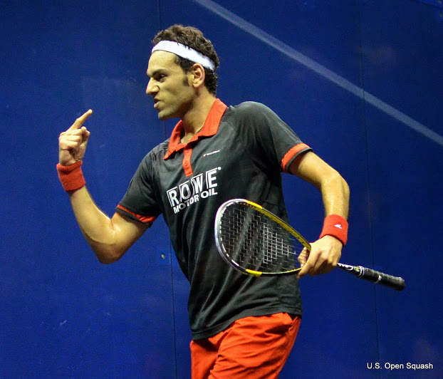 Beating Gregory Gaultier in the US Open gave Mohamed the number one slot