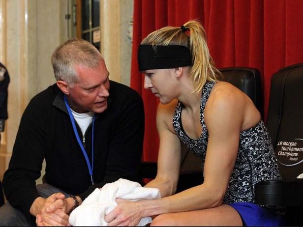 Kasey with coach Rodney Martin