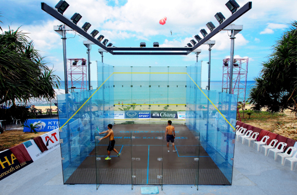 Beach ball: Sand-out, sand-in as squash takes to the beach in Thailand