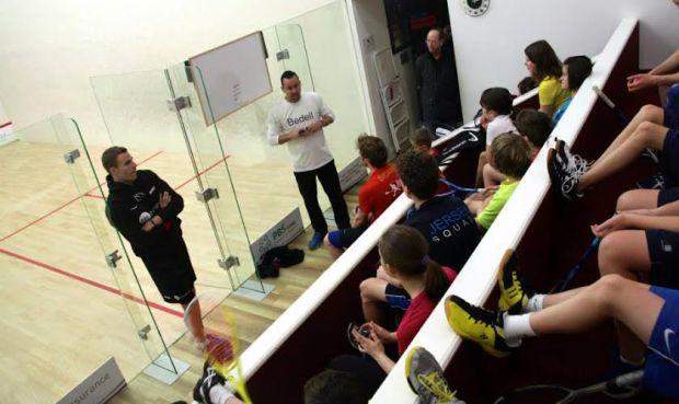 Nick Taylor welcomes world champion Nick Matthew to Jersey