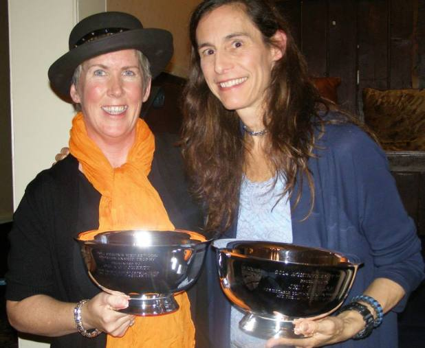 Orla O'Doherty and Jennifer Gabler with their special awards