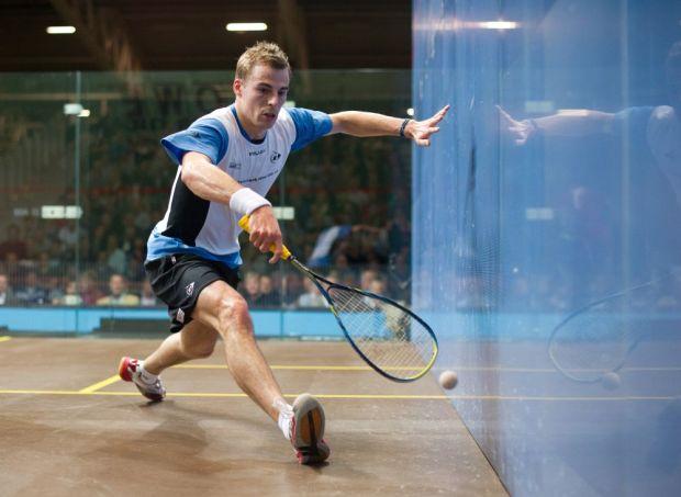 Nick Matthew in action