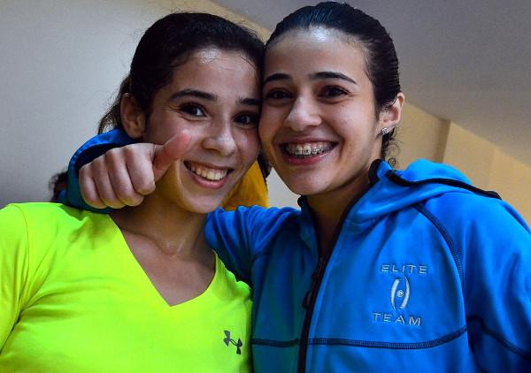 Sisters Heba (right) and Nouran El Torky