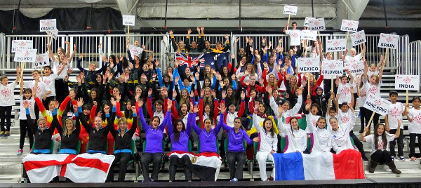 The 20 teams competing in the 2014 Women's World Team Championship