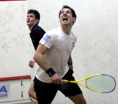 Aaron enjoys his recent win over Matthew Karwalski