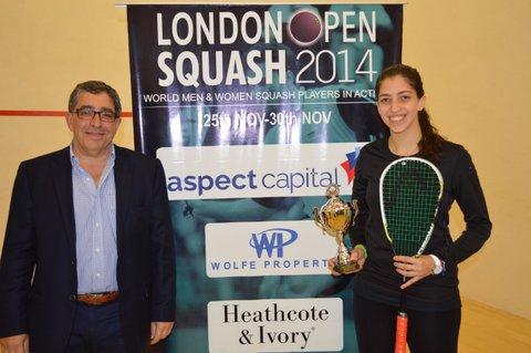 London champion Yathreb Adel