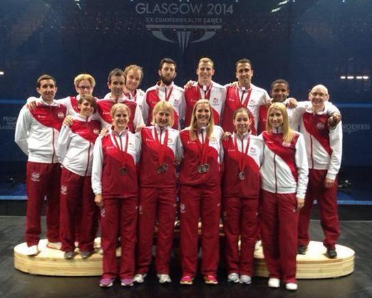 Team England in Glasgow