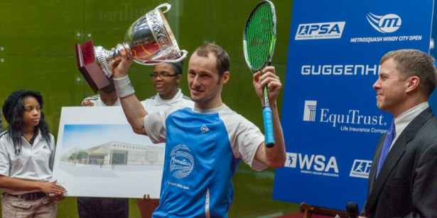 The reigning Windy City champion Gregory Gaultier