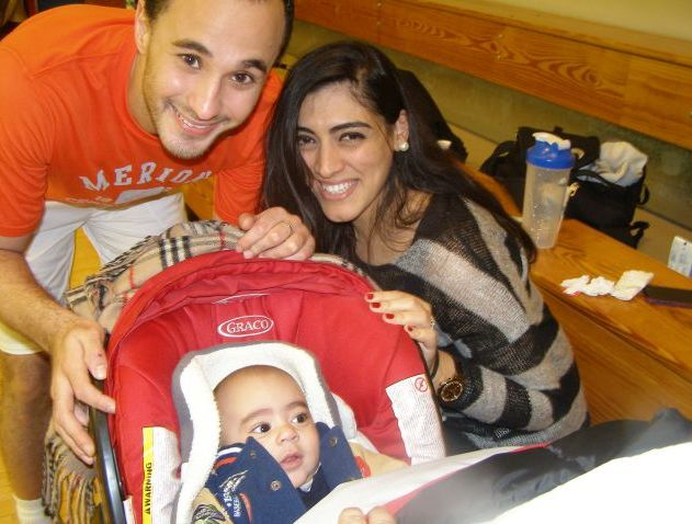 Ali Reda, wife Engy and baby son are now based in Philadelphia