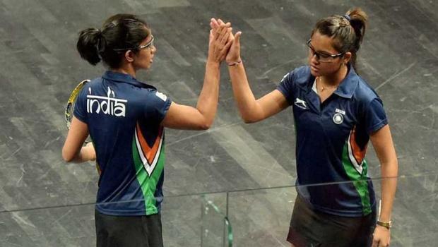 Joshna Chinappa (left) and Dipika Pallikal
