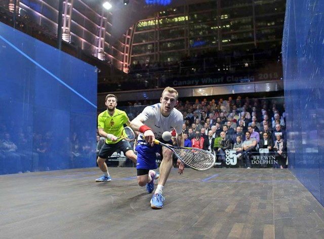 Front man: Nick Matthew battles through against Daryl Selby