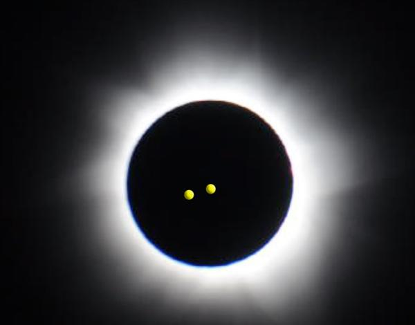 The eclipse sited above The Mote Squash Club in Maidstone, Kent