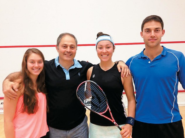 The Sobhy squash dynasty (from left): Sabrina, father Khaled, Amanda, and brother Omar