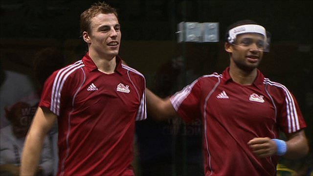 Nick with doubles partner Adrian Grant