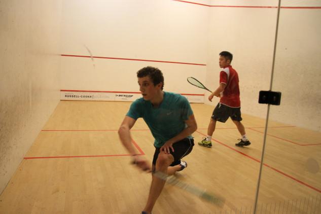 Lucas Serme in action against Leo Au