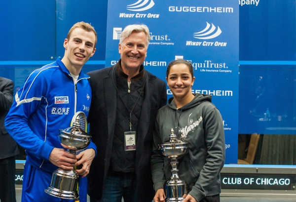 Champions: Nick Matthew and Raneem El Welily
