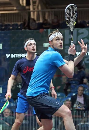 Lyell on court with his favourite player in the Nationals