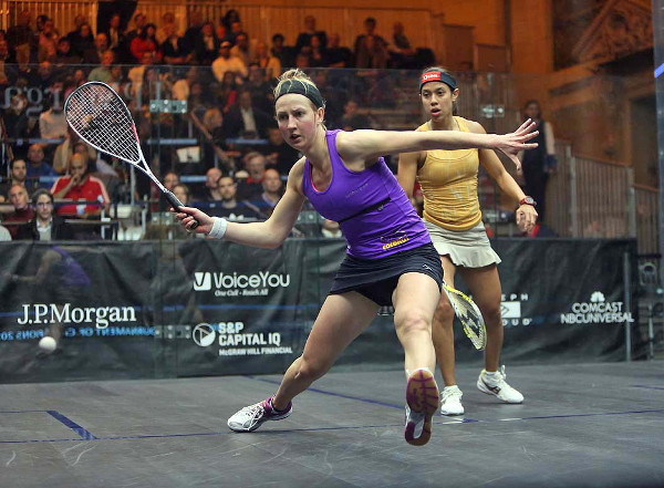 Alison Waters beats Nicol David at the ToC in New York