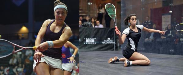 Texas Open finalists Amanda Sobhy and Nour El Tayeb