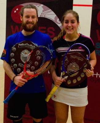 Tesni and her doubles partner Peter Creed