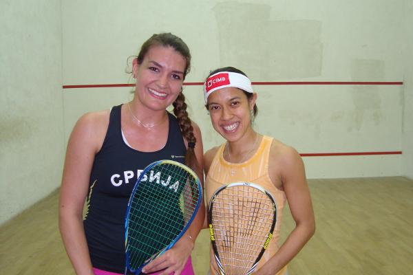 World No.1 Nicol David meets Serbian champion Jelena Dutina