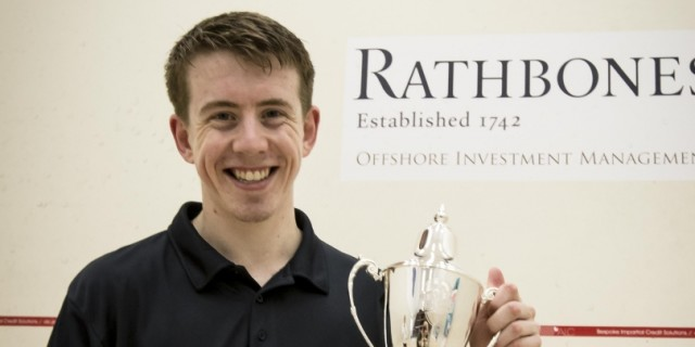 Nathan Lake celebrates his title win in Jersey