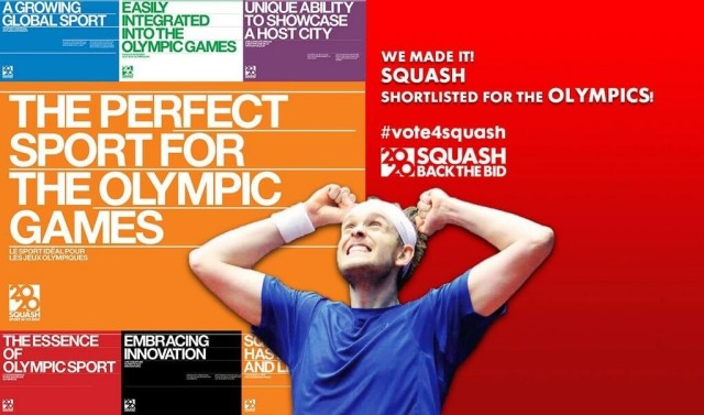 Squash is one on a shortlist of eight sports for the 2020 Olympics