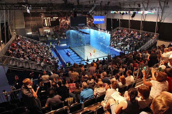 Big crowds flocked to the Glasgow squash every day