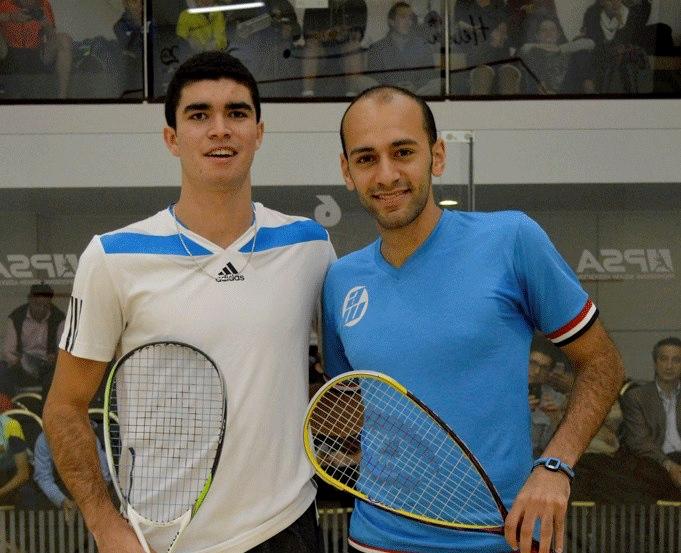 Diego Elias (left) and Marwan Elshorbagy