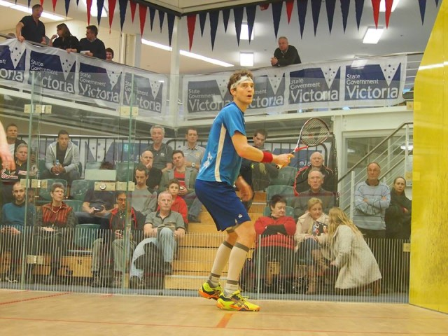 Cam Pilley in action in the first round
