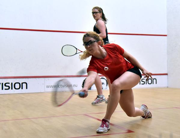 Georgina Kennedy in action against New Zealand's