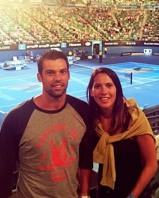 TIME OUT: Joelle with husband Ryan Shutte at the Australian Open tennis ...