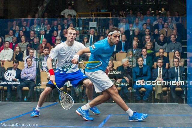 The top two seeds, Mohamed Elshorbagy and Nick Matthew