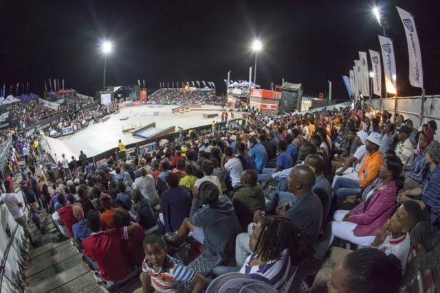 Packed crowds at skateboard's World Championship in South Africa