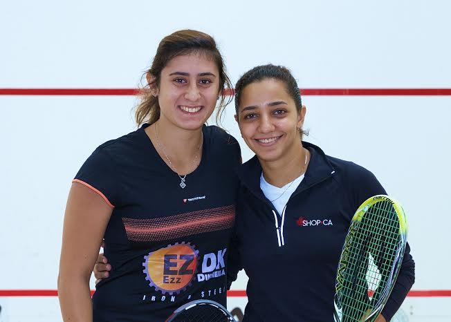 Nour El Sherbini (left) and Raneem El Welily